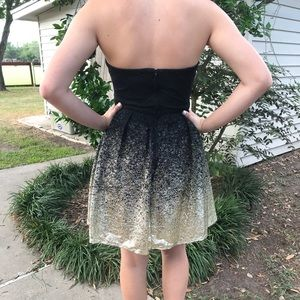 B. Smart Dresses - Beautiful black   gold semi-formal strapless dress 6c8da468d